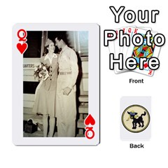 Queen Dads Wwii Deck By Matt   Playing Cards 54 Designs   Vu00sztcu18g   Www Artscow Com Front - HeartQ