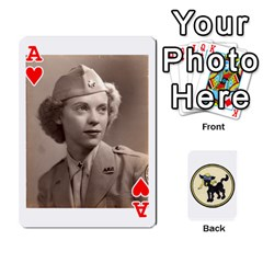 Ace Dads Wwii Deck By Matt   Playing Cards 54 Designs   Vu00sztcu18g   Www Artscow Com Front - HeartA