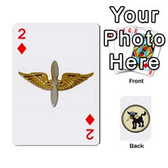Dads Wwii Deck By Matt   Playing Cards 54 Designs   Vu00sztcu18g   Www Artscow Com Front - Diamond2