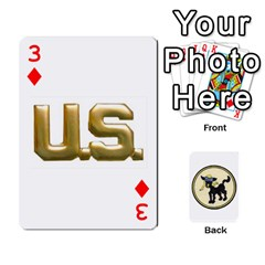 Dads Wwii Deck By Matt   Playing Cards 54 Designs   Vu00sztcu18g   Www Artscow Com Front - Diamond3