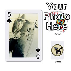 Dads Wwii Deck By Matt   Playing Cards 54 Designs   Vu00sztcu18g   Www Artscow Com Front - Spade5