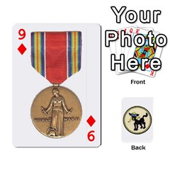 Dads Wwii Deck By Matt   Playing Cards 54 Designs   Vu00sztcu18g   Www Artscow Com Front - Diamond9