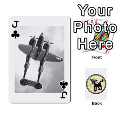 Jack Dads Wwii Deck By Matt   Playing Cards 54 Designs   Vu00sztcu18g   Www Artscow Com Front - ClubJ