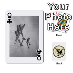 Queen Dads Wwii Deck By Matt   Playing Cards 54 Designs   Vu00sztcu18g   Www Artscow Com Front - ClubQ
