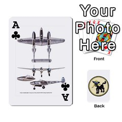 Ace Dads Wwii Deck By Matt   Playing Cards 54 Designs   Vu00sztcu18g   Www Artscow Com Front - ClubA