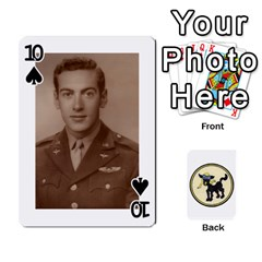 Dads Wwii Deck By Matt   Playing Cards 54 Designs   Vu00sztcu18g   Www Artscow Com Front - Spade10