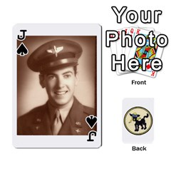 Jack Dads Wwii Deck By Matt   Playing Cards 54 Designs   Vu00sztcu18g   Www Artscow Com Front - SpadeJ
