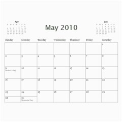 Calendar I Made For Us! By Holly   Wall Calendar 11  X 8 5  (12 Months)   33u7833dx11j   Www Artscow Com May 2010