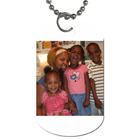 Taking My Kids Everywhere I Go    By Petula   Dog Tag (one Side)   Y95q1x2e013j   Www Artscow Com Front