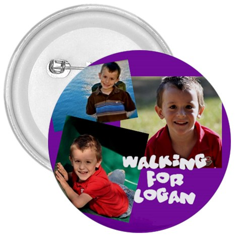 Logan Buttons By Kat   3  Button   Mrinc5zsi729   Www Artscow Com Front