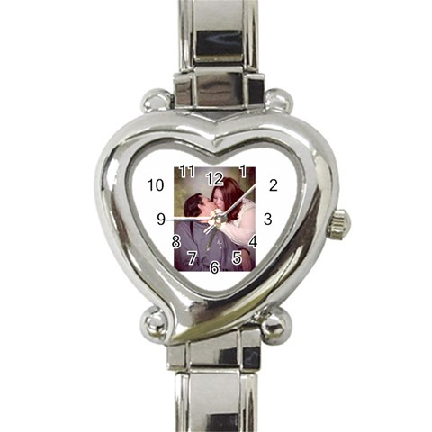 My Watch!!! By Clarisa Stewart   Heart Italian Charm Watch   E8scl36datm5   Www Artscow Com Front