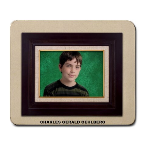 Mousepad Of Charlie By Debra Oehlberg   Large Mousepad   K36u3jquq3nm   Www Artscow Com Front