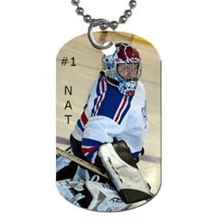 Goalie Dogtags By Natalie Paquin   Dog Tag (two Sides)   Hw04d7v7rdko   Www Artscow Com Front