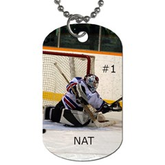 Goalie Dogtags By Natalie Paquin   Dog Tag (two Sides)   Hw04d7v7rdko   Www Artscow Com Back