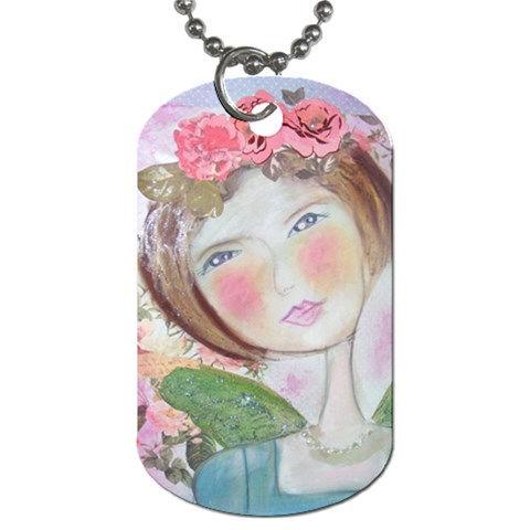 My Newest Angel Necklace By Belinda   Dog Tag (one Side)   O9p2f9xsyjkl   Www Artscow Com Front