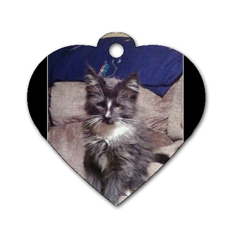 Poohkittae Has My Heart By Gilbert Borom   Dog Tag Heart (one Side)   Keegtj2tyqu4   Www Artscow Com Front