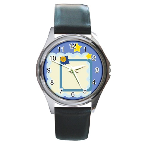 Little Star By Clince   Round Metal Watch   Yzof8nr58unv   Www Artscow Com Front