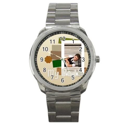My Dad By Wood Johnson   Sport Metal Watch   S6436lr39n66   Www Artscow Com Front