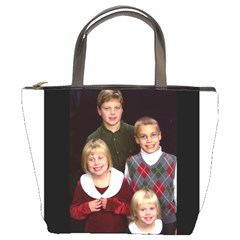 Bag With Kids Christmas Pic By Brenda   Bucket Bag   1s3wyqljoab2   Www Artscow Com Front