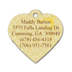 Maddy Tag By Michael Barton   Dog Tag Heart (two Sides)   Hpgpgru69m5e   Www Artscow Com Back
