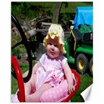 Anya on Grampa Lee s Tractor - Canvas 11  x 14