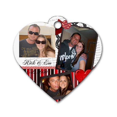 Rick & Em By Emily   Dog Tag Heart (one Side)   Epurorfay1vr   Www Artscow Com Front