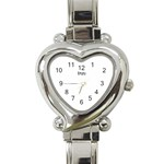 alixwatch - Heart Italian Charm Watch