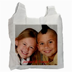Reusable Shopping Bags  By Gloria Hall   Recycle Bag (two Side)   2f308otgvwx5   Www Artscow Com Front
