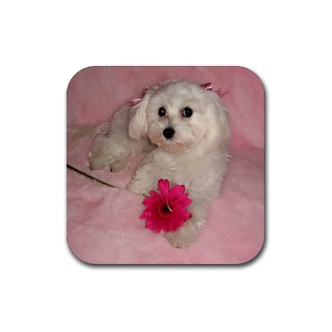 Coco  By Wendolin Zenteno Nguyen   Rubber Coaster (square)   Jsm0s37rktl9   Www Artscow Com Front
