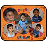 subham - Double Sided Fleece Blanket (Mini)