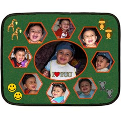Subham By Anu   Double Sided Fleece Blanket (mini)   5w1y8cud2ybx   Www Artscow Com 35 x27  Blanket Back