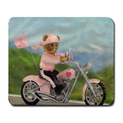 ride For A Cure  Harley Mousepad By Jolene Osmun   Large Mousepad   Odmg8si2usz6   Www Artscow Com Front