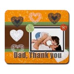 Dad thank you - Large Mousepad