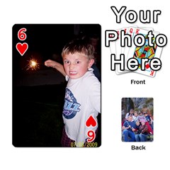 Playing Cards We Made For Cory s Birthday From 2009 By Janice Miller   Playing Cards 54 Designs   Orr412gpb9ga   Www Artscow Com Front - Heart6