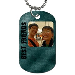 Kevin And Justin Dogchain By Justin Chia   Dog Tag (two Sides)   M84a6h7pho8k   Www Artscow Com Front