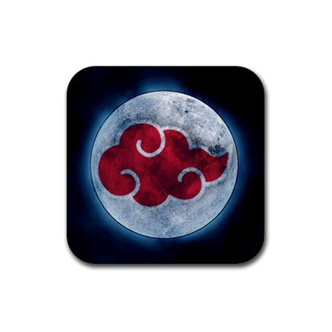 Akatsuki Clouds By Jason   Rubber Coaster (square)   Dzu8pb7nd2ph   Www Artscow Com Front
