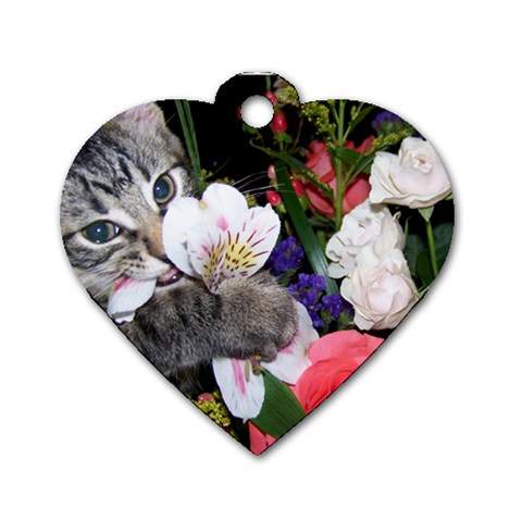 Solo Tag For Kj By Jessica   Dog Tag Heart (one Side)   Kjbkufstvp2o   Www Artscow Com Front