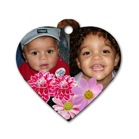 Babe By Zora Singleton   Dog Tag Heart (one Side)   A7u3y93opl32   Www Artscow Com Front