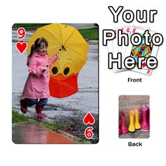RainyDay Playing Cards by Lily Hamilton Front - Heart9