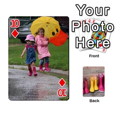 RainyDay Playing Cards by Lily Hamilton Front - Diamond10