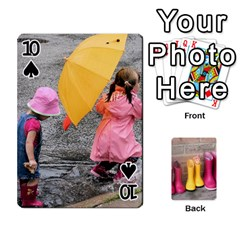RainyDay Playing Cards by Lily Hamilton Front - Spade10