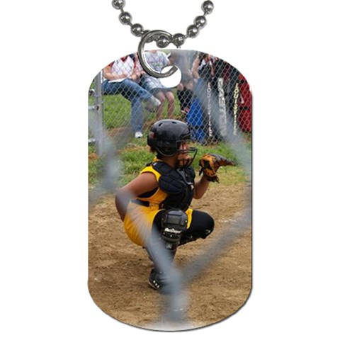 Vanessa Baseball By Kim   Dog Tag (one Side)   7f530ncaxupt   Www Artscow Com Front