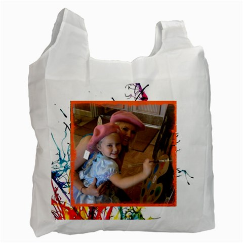 Painters By Mary Stewart   Recycle Bag (one Side)   Sqflfkk013of   Www Artscow Com Front