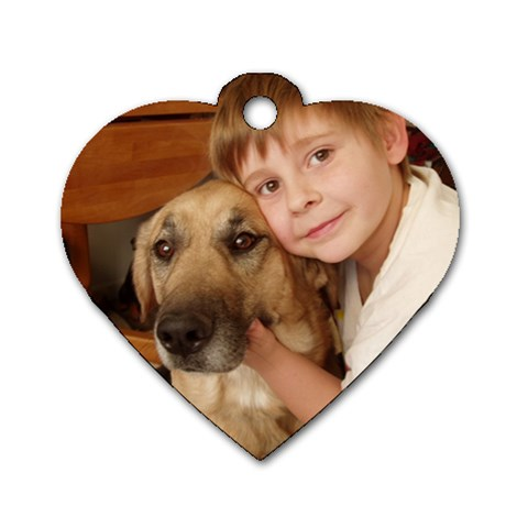 A Boy And His Doggie! By Cathi   Dog Tag Heart (one Side)   Tsiwooff5vbp   Www Artscow Com Front