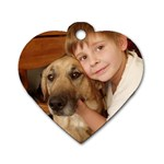 A boy and his doggie! - Dog Tag Heart (One Side)