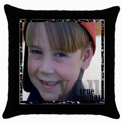 Caleb Throw Pillow By Anne   Throw Pillow Case (black)   Xce8pxaf0q75   Www Artscow Com Front