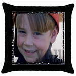 Caleb Throw Pillow - Throw Pillow Case (Black)