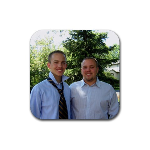 Brothers By Brandon Shadel   Rubber Coaster (square)   Ey492xphhd8g   Www Artscow Com Front