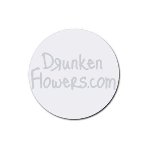 Df Gray Logo Coaster By Zre   Rubber Coaster (round)   Oizist5af4pj   Www Artscow Com Front