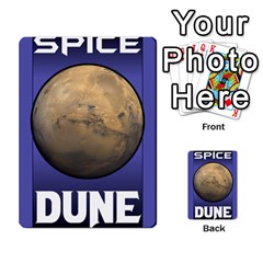 Dune Spice Set1 2sets By Gabriel   Playing Cards 54 Designs   Bn2n7q0bbx2z   Www Artscow Com Back